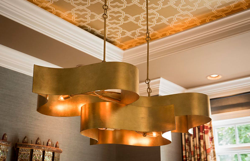 modern gold light fixture
